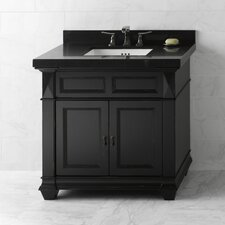 Torino 36 Bathroom Vanity Cabinet Base in Antique Black by Ronbow