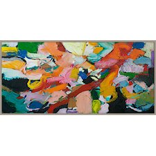 Brush of Color Abstract Giclée Framed Painting Print