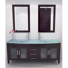 Grand Regen 63 Double Sink Modern Bathroom Vanity Set by JWH Living