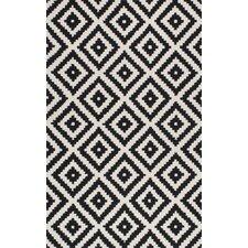 Obadiah Hand-Tufted Black Area Rug