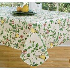 "Serene Morning 84"" Oval Vinyl Tablecloth"