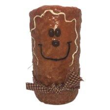 Gingerbread Man Pillar Candle