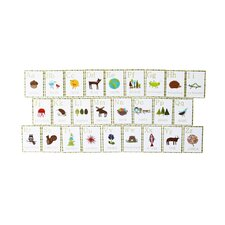 Francesco 26 Piece Nature Themed English Alphabet Wall Card Set