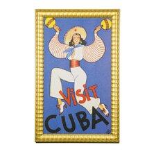 Cultural Authenticity Visit Cuba Framed Vintage Advertisement
