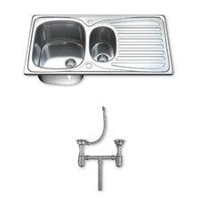95cm x 50cm Stainless Steel Kitchen Sink