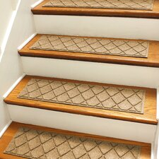 Aqua Shield Gold Argyle Stair Tread (Set of 4)