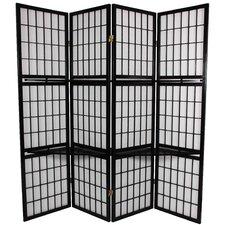 "70.75"" x 69"" Window Pane 4 Panel Room Divider"