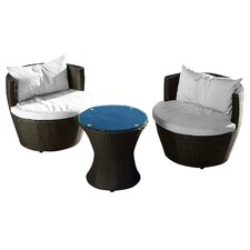 Wyler 3 Piece Lounge Seating Group with Cushion