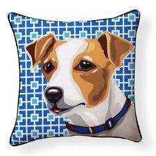 Pooch Décor Jack Russell Indoor/Outdoor Throw Pillow