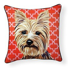 Pooch Décor Yorkshire Terrier Indoor/Outdoor Throw Pillow