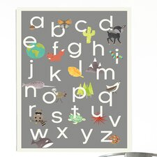 Nature Themed Alphabet Paper Print