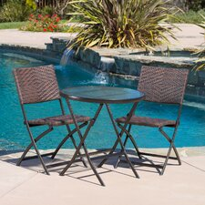 Vacca 3 Piece Outdoor Bistro Set
