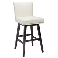 "West Vintage 30"" Swivel Bar Stool with Cushion"