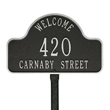Lexy 3-Line Lawn Address Sign
