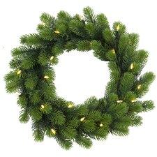 47cm Lighted Orsa Fir Wreath
