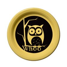 "6.63"" Halloween Whoo Owl Appetizer Plate"