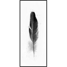 Feathers III Inverse Framed Painting Print