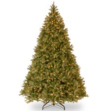 Downswept Douglas 10' Green Artificial Christmas Tree with 1200 Incandescent Colored and Clear Lights with Stand