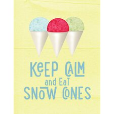 Keep Calm and Eat Snow Cones House Vertical Flag