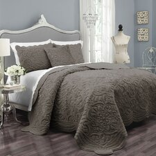 Charlotte Polyester 3 Piece Coverlet Set