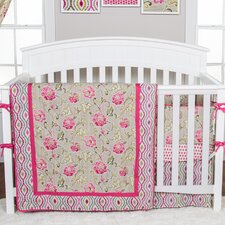 Waverly Jazzberry 3 Piece Crib Bedding Set by Trend Lab