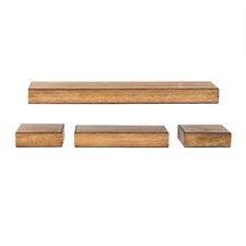 4 Piece Chunky Brown Ledge Set