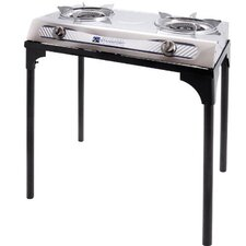 2-Burner Outdoor Stove with Stand