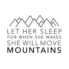 Let Her Sleep Quote Small Wall Decal