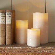 Taupe Flameless Pillar Candle