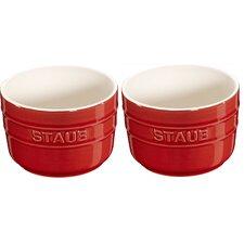 Round Ceramic 2-pc Ramekin Set (Set of 2)
