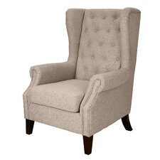 Dorothy Upholstered Wingback Chair by DonnieAnn Company