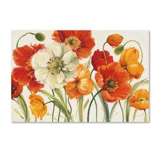 Poppies Melody by Lisa Audit Framed on Canvas