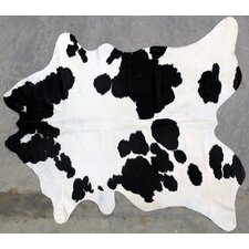 Natural Cowhide Black/White Area Rug