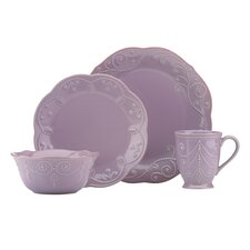 French Perles 4 Piece Place Setting, Service for 1