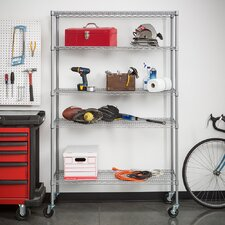 "NSF All Weather 77"" H 5 Shelf Shelving Unit Starter"
