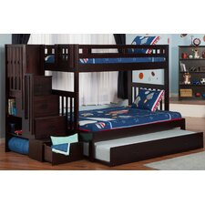 Edwardo Twin over Full Bunk Bed with Staircase and Trundle