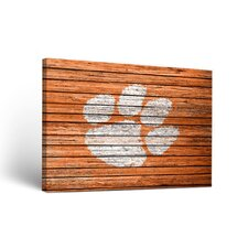 NCAA Weathered Design Framed Graphic Art on Wrapped Canvas