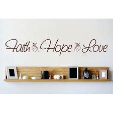 Faith Hope Love Wall Decal