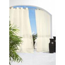 Odessa Solid Sheer Grommet Single Curtain Panel
