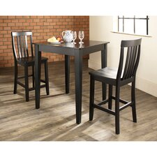Pittman 3 Piece Pub Table Set with Tapered Leg Table and Barstools