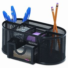 Rolodex Mesh Pencil Cup Organizer Steel, 4 Compartments
