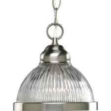 1-Light Prismatic Glass Pendant
