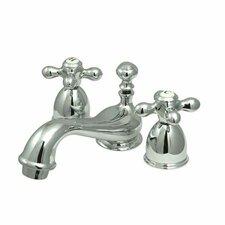 Mini Widespread Bathroom Faucet Spread with Double Cross Handles