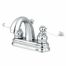 Centerset Bathroom Faucet with Double Porcelain Lever Handles