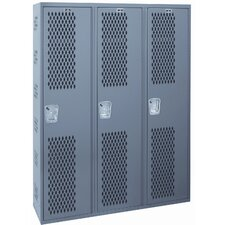 Welded 1 Tier 3 Wide Gym Locker