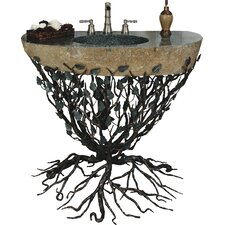 Organic Suites Embracious Aspen Forest Iron 25 Pedestal Bathroom Sink by Quiescence