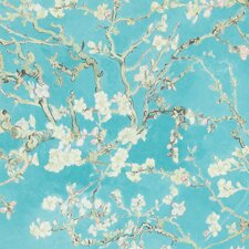 """Van Gogh Blossoming Almond Trees  33' x 20.8"""" Floral and Botanical Plaster Wallpaper"""