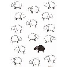 Geschirrtuch Schwarzes Schaf