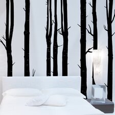 8 Piece Woodland Tree Wall Decal Set
