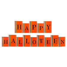 Happy Halloween Dotted Brick Decor